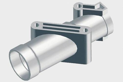 Injection moulded aluminium tine arm support housings.